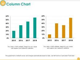 Column Chart Ppt Infographic Template Design Ideas