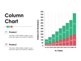 Column Chart Ppt Infographic Template Layouts