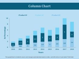 Column Chart Ppt Slides Example File