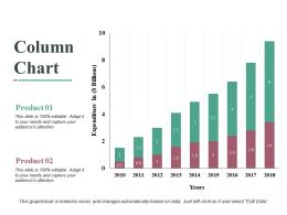 Column Chart Ppt Slides Graphic Images
