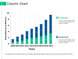 Column Chart Ppt Styles Background
