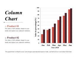 Column Chart Ppt Styles Deck