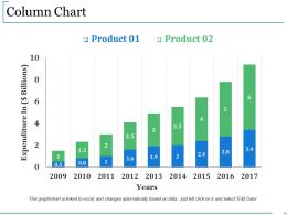 Column Chart Ppt Summary
