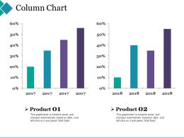 Column Chart Ppt Summary Designs Download