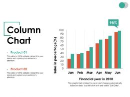 Column Chart Ppt Summary Example