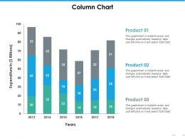 Column Chart Ppt Summary Graphics Download