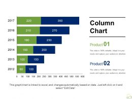 Column Chart Presentation Powerpoint Templates