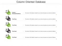 Column Oriented Database Ppt Powerpoint Presentation Ideas Show Cpb