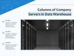 Columns Of Company Servers In Data Warehouse