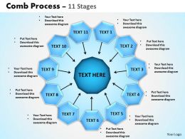Comb Process 11 Stages Powerpoint Slides And Ppt Templates 0412
