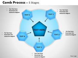 Comb Process 5 Stages Powerpoint Slides And Ppt Templates 0412