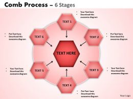 Comb Process 6 Stages Powerpoint Slides And Ppt Templates 0412