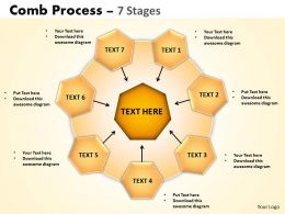 Comb Process 7 Stages Powerpoint Slides And Ppt Templates 0412