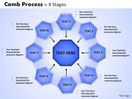 Comb Process 8 Stages Powerpoint Slides And Ppt Templates 0412