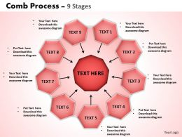 Comb Process 9 Stages Powerpoint Slides And Ppt Templates 0412