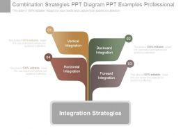 Combination Strategies Ppt Diagram Ppt Examples Professional