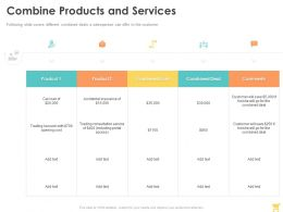 Combine Products And Services Ppt Powerpoint Presentation Pictures Themes