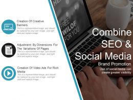 Combine Seo And Social Media Ppt Background