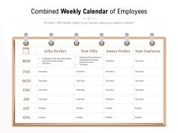 Combined Weekly Calendar Of Employees