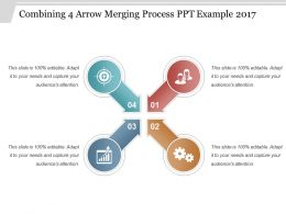 Combining 4 Arrow Merging Process Ppt Example 2017