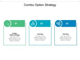 Combo Option Strategy Ppt Powerpoint Presentation Inspiration Deck Cpb