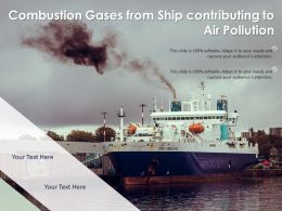 Combustion Gases From Ship Contributing To Air Pollution