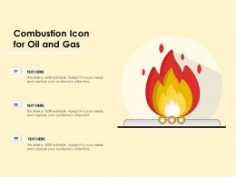 Combustion Icon For Oil And Gas