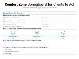Comfort Zone Springboard For Clients To Act
