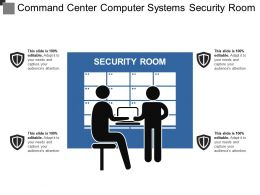 Command Center Computer Systems Security Room
