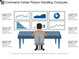 Command Center Person Handling Computer System Screen