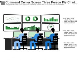 Command Center Screen Three Person Pie Chart Mobile