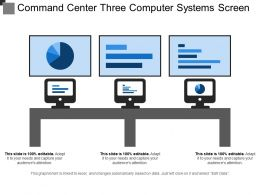 Command Center Three Computer Systems Screen