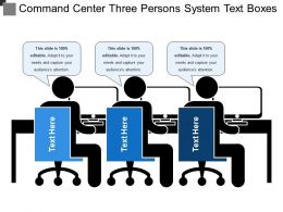 Command Center Three Persons System Text Boxes