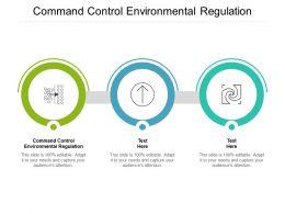 Command Control Environmental Regulation Ppt Powerpoint Presentation Templates Cpb