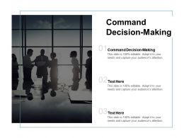Command Decision Making Ppt Powerpoint Presentation Show Picture Cpb