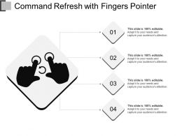 Command Refresh With Fingers Pointer