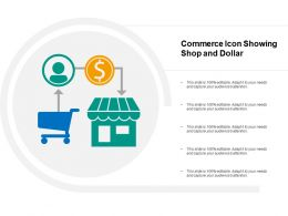 Commerce Icon Showing Shop And Dollar