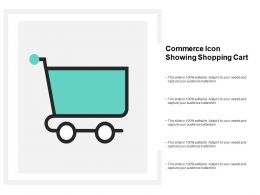 Commerce Icon Showing Shopping Cart