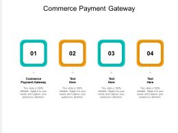 Commerce Payment Gateway Ppt Powerpoint Presentation Model Professional Cpb