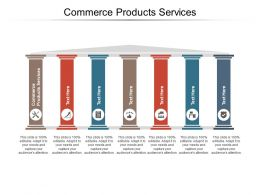 Commerce Products Services Ppt Powerpoint Presentation Infographic Template Slides Cpb