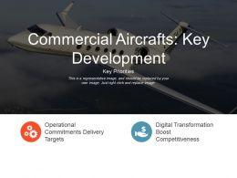 Commercial Aircrafts Key Development Presentation Graphics