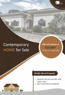 Commercial Apartments For Sale Two Page Brochure Template