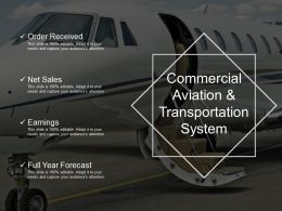 Commercial Aviation And Transportation System Presentation Ideas