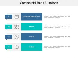 Commercial Bank Functions Ppt Powerpoint Presentation Styles Designs Cpb
