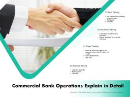 Commercial Bank Operations Explain In Detail