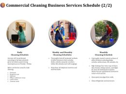 Commercial Cleaning Business Services Schedule Ppt Demonstration