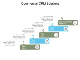 Commercial CRM Solutions Ppt Powerpoint Presentation Ideas Clipart Images Cpb