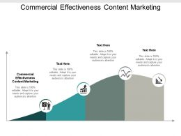 Commercial Effectiveness Content Marketing Ppt Powerpoint Presentation Styles Guidelines Cpb