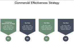 Commercial Effectiveness Strategy Ppt Powerpoint Presentation Show Smartart Cpb