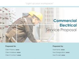 Commercial Electrical Service Proposal Powerpoint Presentation Slides